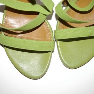 A. Marinelli Shoes - A-MARINELLI-Strappy-- Sexy Heels-Lime green